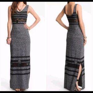 FREE PEOPLE  Hazy Daze Lace-Stripe Maxi Dress